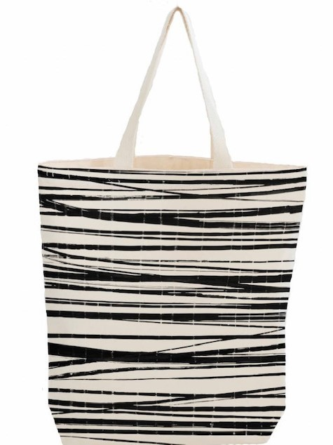 Boweevil Citybag Wrapping Stripes met binnenzak en rits.