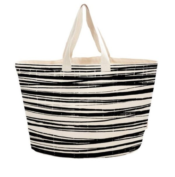 Boweevil Strand/Yoga tas - Wrapping Stripes (60 x 38 cm).